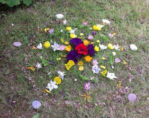 Flower mandala for the fairies