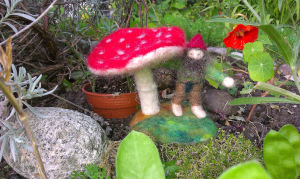 Toadstool with little dwarf