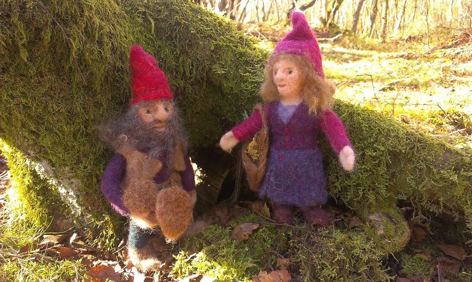 A dwarf couple in the wood