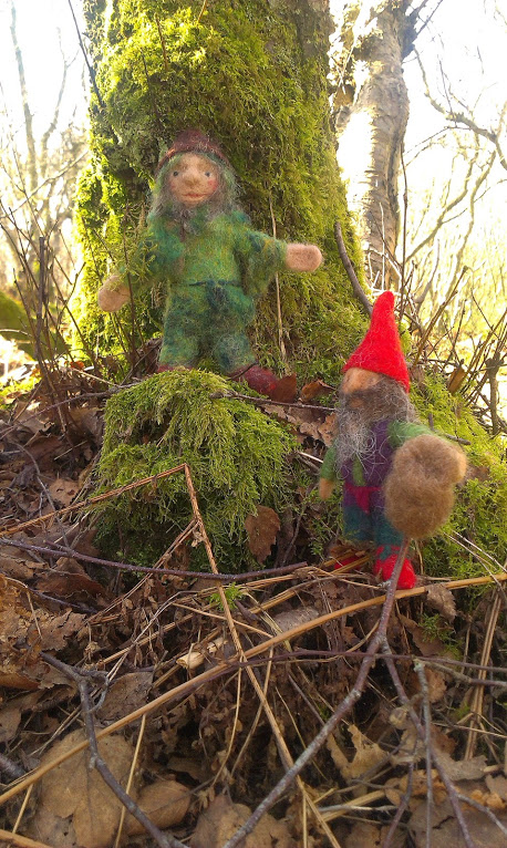 Moss gnome and little red hat and boots