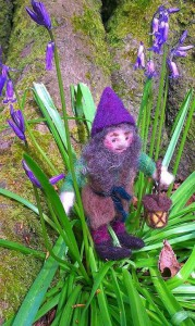 Elf in the bluebells