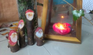 Wooden gnomes