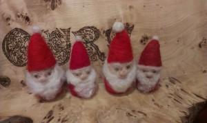Needle felted Santas