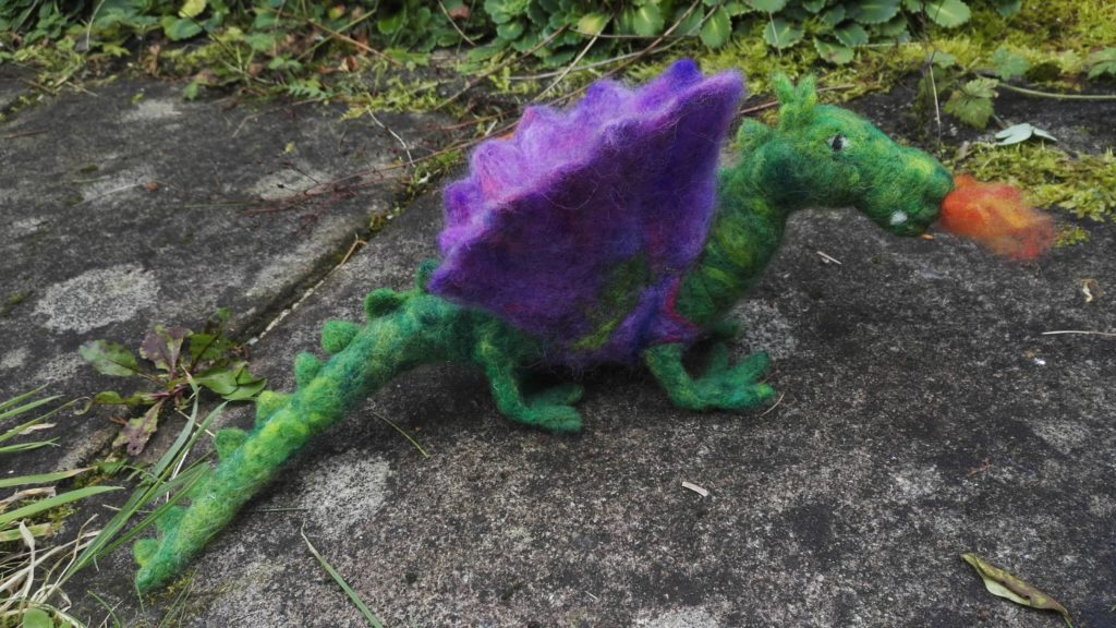 Needle felted Fire Dragon