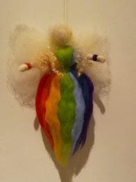 Needle felted Rainbow fairy