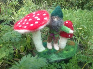 Toadstools with little dwarf