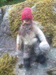 Stone dwarf on a rock