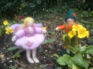 Fairy Sally and elf in my garden